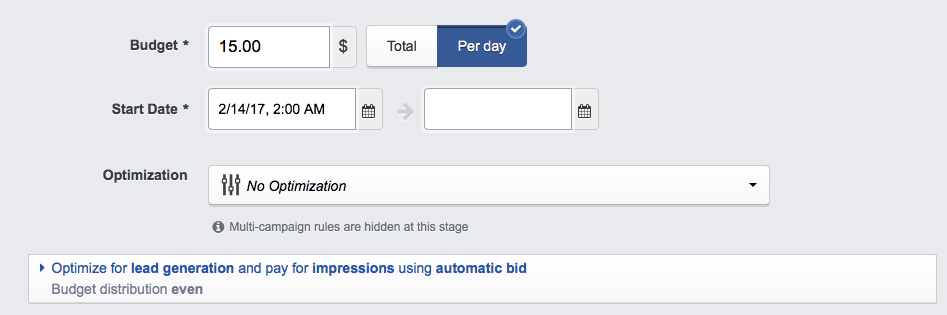 facebook ad campaign bidding